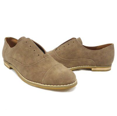 NEW $50 Indigo Rd. Hacksy Brown No Lace Oxford Style Flats   -Choose Size-