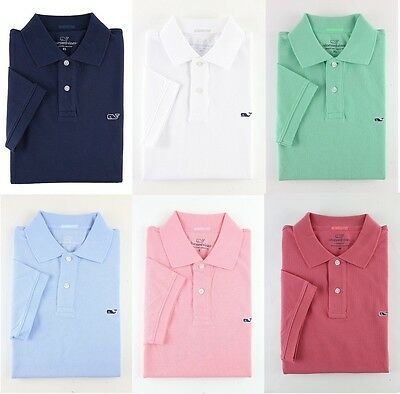 Nwt 2018 Vineyard Vines Mens Polo Shirt Whale Logo Classic Fit Xs S M L Xl Xxl