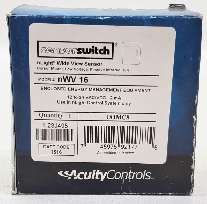 New Sensor Switch Acuity Controls nWV 16 Corner Mount PIR Occupancy Sesnsor