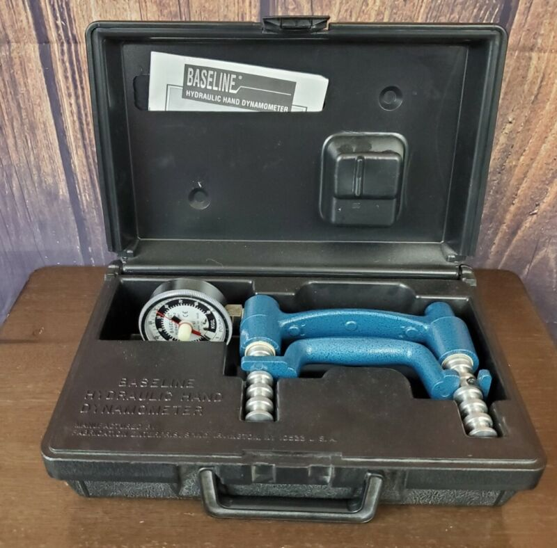 Baseline Hydraulic Hand Dynamometer 200 Lb Capacity With Case