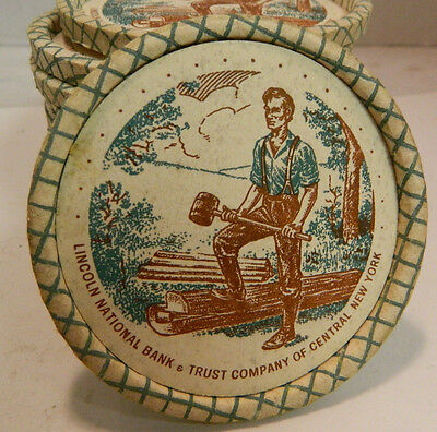Vintage Set Of  12  Lincoln National Bank Central New York Coasters Very Good