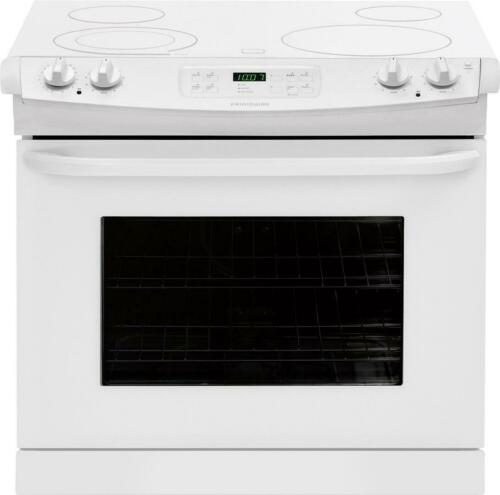 """Frigidaire FFED3025PW30"""" White Electric Drop-In Smoothtop Ra"""