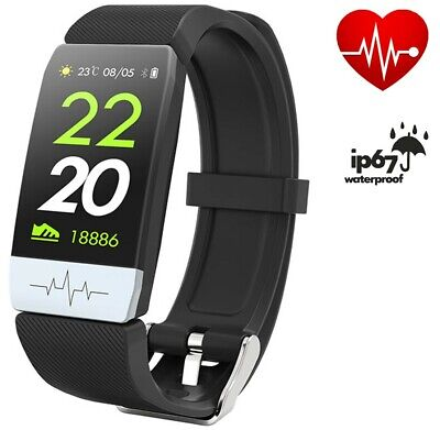 BEST Fitness Tracker IP67 ECG PPG Smart Watch Blood Pressure Heart Rate (Best Rated Fitness Tracker)