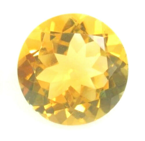 CITRINE GEM ROUND CUT YELLOW GOLDEN GENUINE NATURAL LOOSE FACETED NICE SMALL 3mm