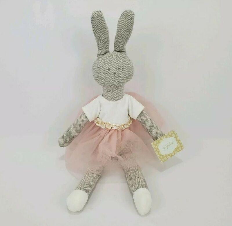 "Loving Kindness Easter Bunny Decoration Bean Stuffed Animal Pink Tutu NWT 18"""