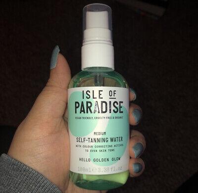 Isle of Paradise Self-Tanning Water MEDIUM Golden Glow Travel Size 3.38 oz 100ml
