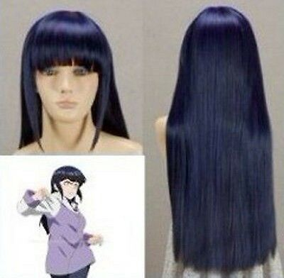 Naruto Shippuden Hinata Hyuga Blue Long Cosplay - Naruto Shippuden Hinata Kostüm