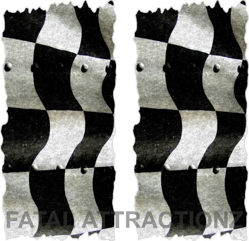 Racing Flag Cornhole Cover Vinyl Decal Sticker graphic bean bag toss race track