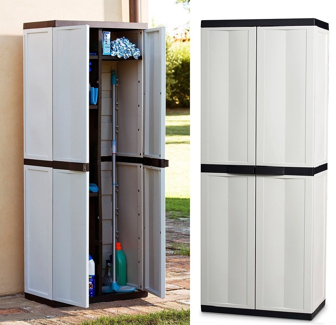 Large Storage Cabinet Garden Garage House Shed Patio Sturdy Plastic Box Ebay