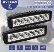 "2x6""30W LED Spot WorkLightBar Reverse Fog Offroad 4X4WD MelPickup Laverton Wyndham Area Preview"