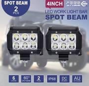 "2X 30W 4"" Cree LED SPOT Work Fog Light Offroad 4WD 4x4 Mel Pickup Laverton Wyndham Area Preview"