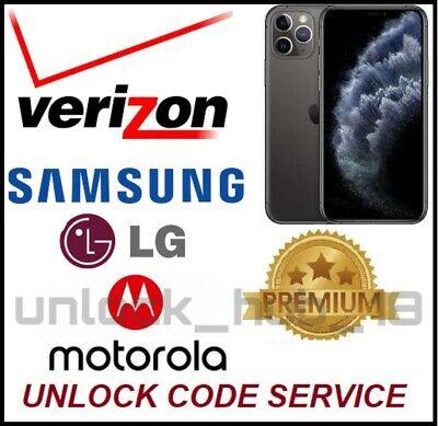 Verizon USA unlock code Motorola Moto E4 E5 GO Play G4 Play G5 G6 Plus Play G7