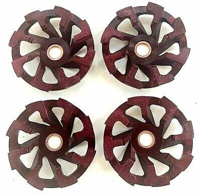 4 Pack 4 Inch 4 Diamond Segment Grinding Cup Wheel Disc Grinder Concrete
