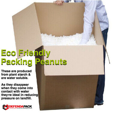 8 cubic feet Bio 8 Biodegradable ECO FRIENDLY PACKING PEANUTS Starch Void Fill