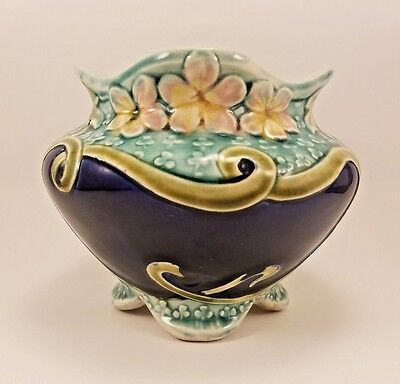 Antique Victorian French Faience Fives Lille De Bruyn Majolica Cache Pot Vase