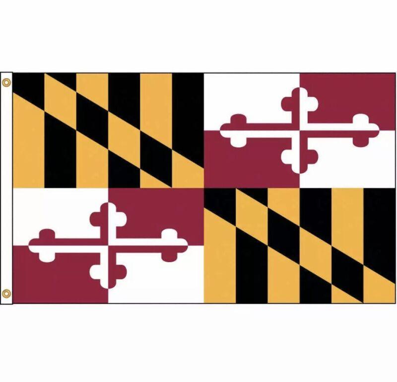 NYLGLO 142380 Maryland Flag,5x8 Ft,Nylon