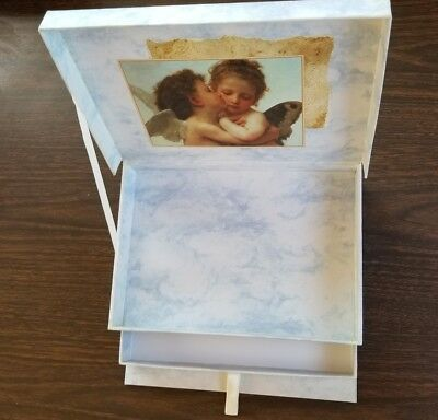 Angels Cardboard Storage Box With Drawer 10.25 X 7.25 X 2.5