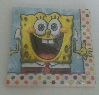 Nickelodeon Spongebob Square Pants Party Supplies Luncheon Napkins - Nickelodeon Party Supplies