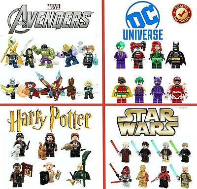 Marvel Avengers Harry Potter Dc Star Wars Mini Figures Bundle FULL SETS -UK
