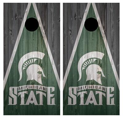 SINGLE Michigan State Spartans Cornhole Wrap Skin Decal Vinyl Board NCAA NK205