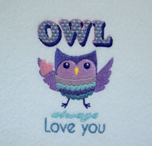 Owl+Face+cloth%2C+Flannel%2C+Embroidered+Owl+always+Love+you+facecloth+Gift