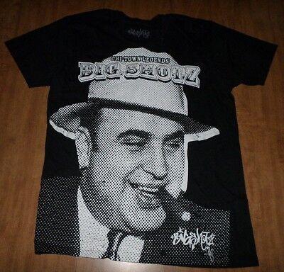 AL CAPONE Chi-Town Legends small T shirt Big Shotz gangster tee w/ cigar Chicago