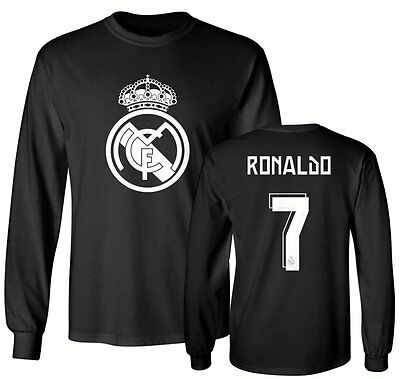 Real Madrid Shirt Cristiano Ronaldo  7 Soccer Jersey Shirt Long Sleeve T Shirt