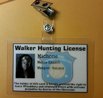 The Walking Dead Id Badge-Michone Walker Jagd Lizenzierte Kostüm Cosplay Zombie