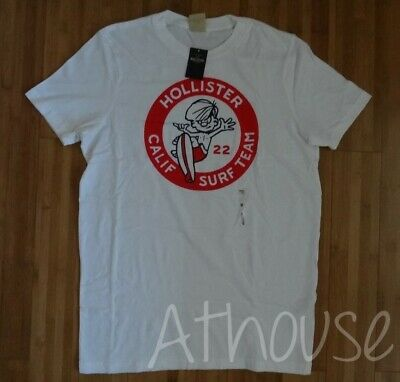 NWT Hollister By Abercrombie Men's Graphic Tee Shirts White Size M