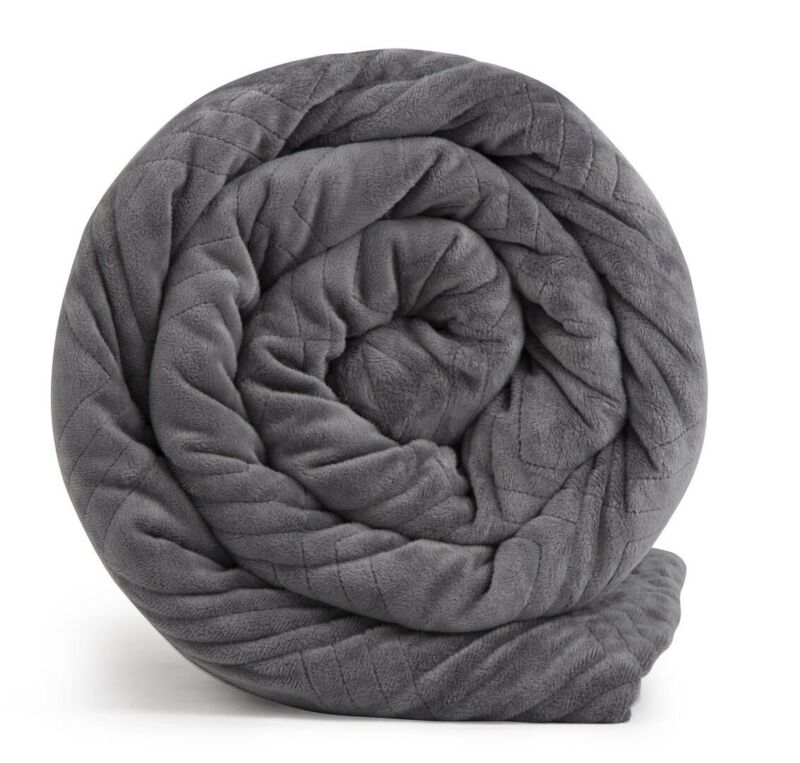New Hush Blanket Classic Luxuriously Soft 80x87 20 lb Queen Weighted Blanket
