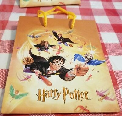 14 Harry Potter Small Gift Party Favor Bags 2000 Hermione Ron Golden - Hermione Bag