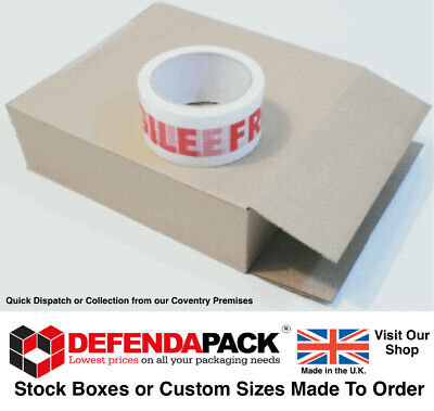 10 STRONG Cardboard Postal Boxes Posting Mailing Shipping 225mm x 75mm x 240mm