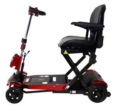 Monarch Solax Genie AUTOMATIC Folding Mobility Scooter - RED