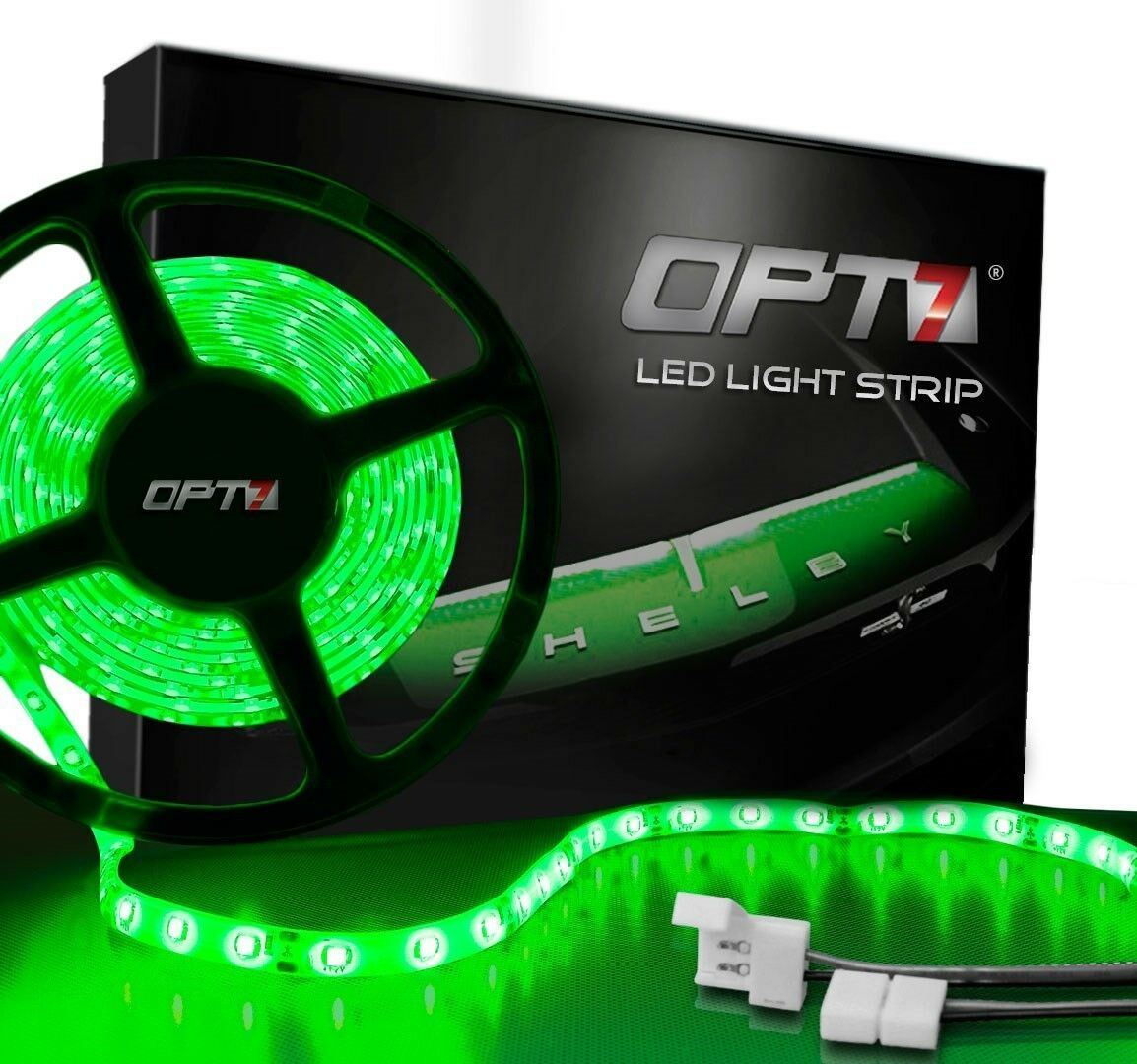 Bright 3528 12 Volt Led Strip Lights 240 Leds: OPT7 300 LED Strip 16ft 5M 3528 SMD Waterproof Flexible