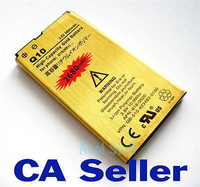 Gold High Capacity N-X1 NX1 battery 2680mAh for BlackBerry Q10