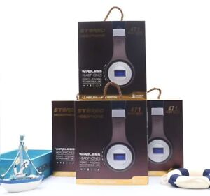 BLUETOOTH FM HEADPHONES RECHARGEABLE BLUE BLACK BROWN IPHONE ANDROID Hallam Casey Area Preview