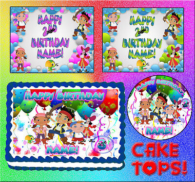 Jake and the Neverland Pirates for Birthday CAKE topper Edible image SHEET