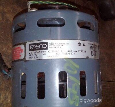 Fasco D484 4.4 Diameter Refrigeration Fan Motor 120 Hp 1550rpm