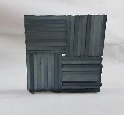 Artistic Glass Tile Black frost Deco 4 x 4