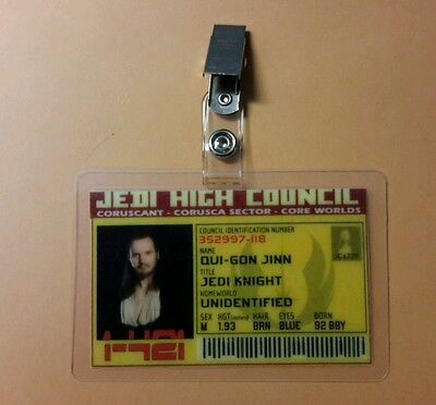 Star Wars Id Abzeichen - Jedi High Council - Star Wars Qui Gon Jinn Kostüme