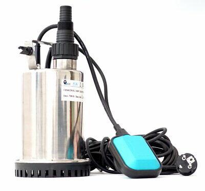 CSP400C INOX Flachsaugpumpe Tauchpumpe Kellerpumpe Schmutzwasserpumpe 400W