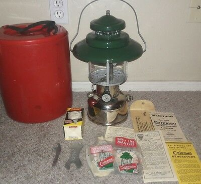 Vtg Early Coleman 228B Big Top Hat Chrome/Nickel 2-Mantle Gas Lantern 1941? XLNT