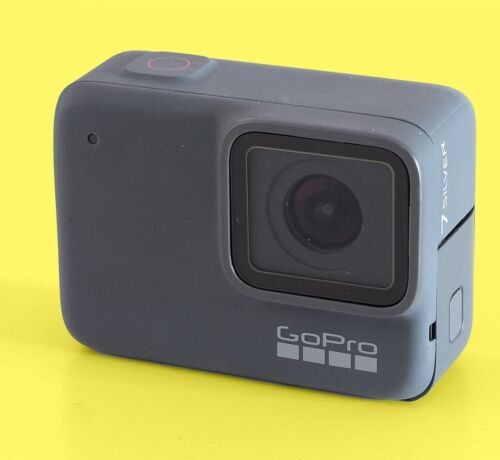 Used GoPro HERO 7 Silver Camcorder Action 4K 10MP Ultra HD Camera Touch Screen