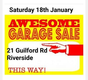 Awesome Garage Sale Today 18th January