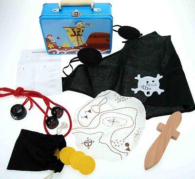 Piratenkoffer Simply for Kids Pirat Kinder Schwert Augenklappe Kompass uvm. NEU