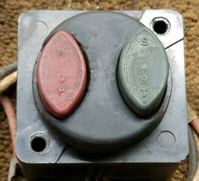 Vintage Push Button Switch Startstop 1940 See Pics Steampunk