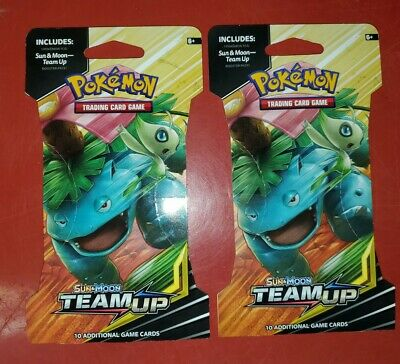 Pokemon 2 pack unopened lot Booster pack Sun&Moon Unbroken Bonds20 cards in all,