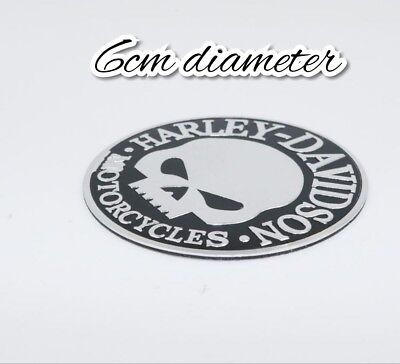 harley davidson Willie g motorcycle gas fuel tank  skull badge emblem logo