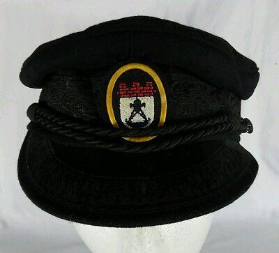 Sailers Hat (VTG German Franz E.A. Seib K.G. Black Sailing Sailers Submarine? Hat 16)