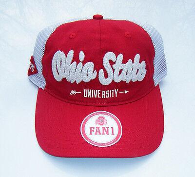 OHIO STATE University OSU BUCKEYES Relaxed Fit Mesh Snapback Baseball Hat -